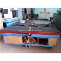 Glass tilting talbe for moving big-size glass