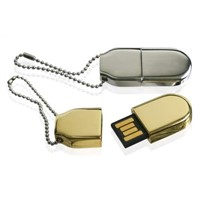 Gold Mini USB Flash Driver with Nice Key Chain for Gifts Selling