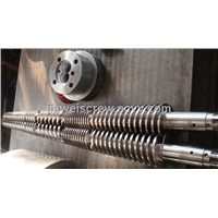 Hard conical twin extruder screw barrel for pvc pipe and profile