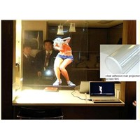 Holography Adhesive Rear Projection Screen Foil for Glass