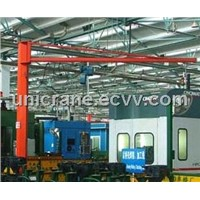 KBK model pillar mounted flexible Jib crane