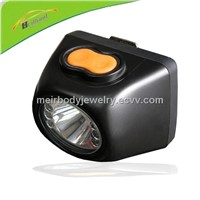 LED mining cordless cap lamp with digital device safety lamp