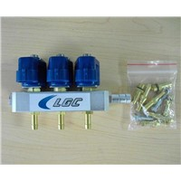 LPG/CNG 3cylinder Rail Injector for sequential injection system