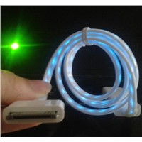 Light Flash Visible USB Cable Charger Sync For iPhone 4S iPod Touch iPad 3