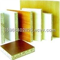 Melamine particel boards