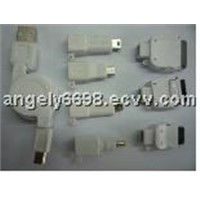 Mini USB female to IPHONE/AU/FOMA/DSI/DSLITE/PSP/MICRO USB adapters kit