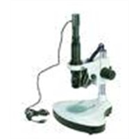 Monocular Zoom Stereo Microscope with Camera and Analysis Software