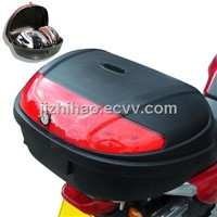 Motorcycle luggage box capacity of 2 full face helmets