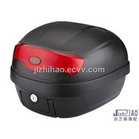 Motorcycle luggage box  with hand bar