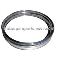 Motorcycle rim, made of 6063 or 7116 aluminum alloy