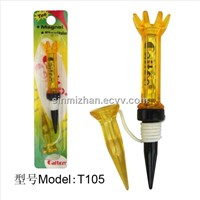 New Design Yellow Plastic Golf Magnetic Flexible Tees