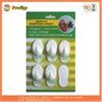 PS White Wall Mounted No Marks Plastic Adhesive Hooks For Hanging Objects