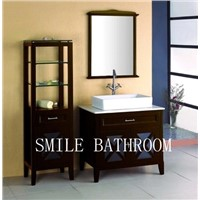 Popular Modern Bathroom Vanity With Side Cabinet and Mirror (A-03)