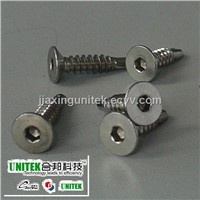 SS304 socket flat head self drilling screw