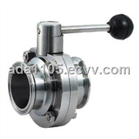 Sanitary Clamp Butterfly Valve With Multi-position Handle