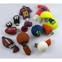 Sports Shape PVC USB Flash Drive for Gifts