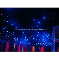 Stage Lighting 3m*4m Blue LED Star Curtain, LED Star Cloth Light Stage Backdrop