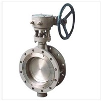 Titanium gear operated butterfly valve