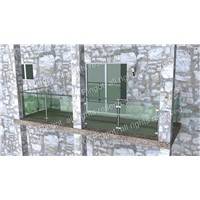 Top Mount Balcony Railings, Made of 304 Stainless Steel, Laminated Glass