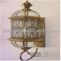 Traditional birdcage style wall sconce
