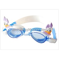 Waterproof safty Children cute fashion silicone kids cartoon swimming glasses