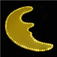 Yellow Moonlight Optical Fiber Chandelier-end Lighting