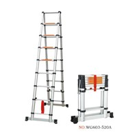 aluminum telescopic A ladder 2.6m+2.6m