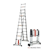 aluminum telescopic A ladder 3.2m+3.8m