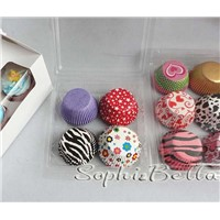cupcake liners baking cups gift box mixed patterns for supermarket