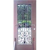 full lite wrought iron glass door