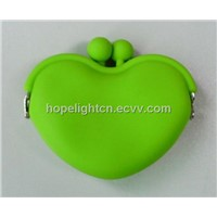 Heart Shape Silicone Coin Pouch
