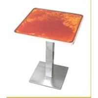 liquid color table top with LED