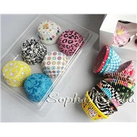 new design 600 Pcs cupcake liners baking cups muffin cases gift box mixed pattern