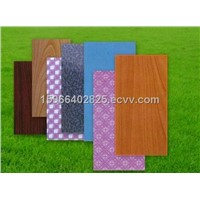 solid color and flower design Paper overlaid Plywood,Polyester Plywood for cabinet and decoration