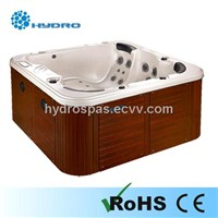 square outdoor spa bathtub jacuzzi with CE approval 612