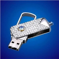 Water Drop Swivel Mini Original Chip Diamond USB Flash Drive Luxury USB Flash Drive