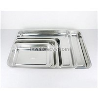 Stainless steel square tray, plate, dish