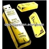 Popular Gold Bar Polished 16GB 8GB Metal USB Flash Memory
