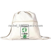 Canvas Backpack (KM-CAB0006), canvas bag, cotton bag, drawstring bag, fabric bag
