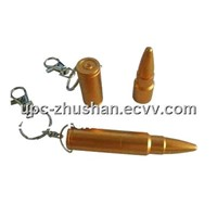 Fashion OEM Keychain Portable Bullet USB Pendrive