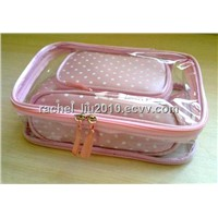PVC cosmetic bag, satin cometic bag, toiletry bags, make up bags