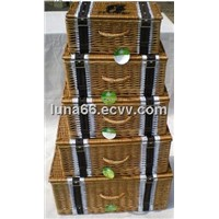 S/5 set of empty hamper for gift packing and food