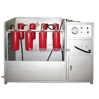 Test pressure and cleaning machine