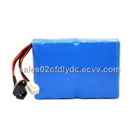12V 10Ah battery pack (DLY18650-3S4P) for electric bicycle