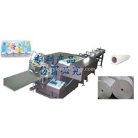 Automatic tissue roll bagging machine