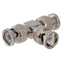 BNC Male Splitter,BNC T type connector,Bnc T type Adapter