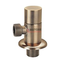 Brass Angle Valve Ceramic Disc Cartridge Bronze Plating