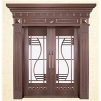 Bronze Door,with Mosaic Type Thong, Made of Copper/Brass, Customized Specifications are Accepted
