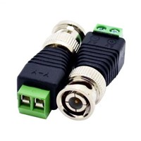 Coax CAT5 To Camera,CCTV BNC Video Balun Connector