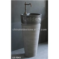 Cone floor standing bathroom sink LD-F043